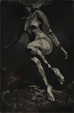 Sale 9096A - Lot 5086 - Martine Emdur (1967 - ) - Suspended Light, 2002 14.5 x 9.5 cm (frame: 47 x 36 x 3 cm)