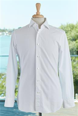 Sale 9120K - Lot 77 - An Ermenegildo Zegna Trofeo white cotton long sleeve shirt. Size 39