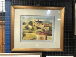 Sale 9147 - Lot 2003 - Ken Gilroy Bathurst Houses oil on paperboard 68 x 78cm, signed -