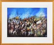 Sale 8323A - Lot 1 - Kevin Charles (Pro) Hart (1928 - 2006) - Gallipoli II 55.5 x 76cm