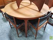 Sale 8451 - Lot 1090 - Round McIntosh teak table and set of 4 chairs