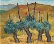 Sale 8492 - Lot 580 - Jean Isherwood (1911 - 2006) - Four Grass Trees 37 x 44.5cm