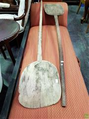 Sale 8570 - Lot 1055 - Pair of Vintage Timber Pizza Paddles