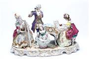 Sale 8710 - Lot 43 - Scheibe-Alsbach Ceramic Figural Music Scene