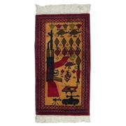 Sale 8914C - Lot 13 - Afghan Pictorial War Rug, 95x55cm, Handspun Wool