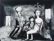 Sale 8976A - Lot 5040 - Garry Shead (1942 - ) - Queen and Consort 24.5 x 32 cm (frame: 60 x 63 x 4 cm)