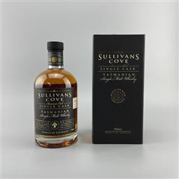 Sale 9250W - Lot 775 - Sullivans Cove American Oak Single Cask Single Malt Tasmanian Whisky - barrel no. TD0262, filled 17/03/2008, decanted 28/02/2021,...