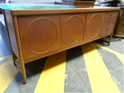 Sale 7943A - Lot 1531 - Teak Sideboard with 3 Panel Doors & 3 Drawers