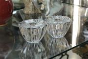 Sale 8346 - Lot 16 - Orrefors Crystal Candlesticks