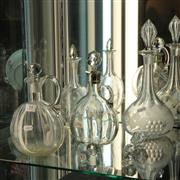 Sale 8351 - Lot 14 - Early Glass Decanter with Other Glass Wares incl Vinaigrette Bottle