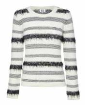 Sale 8493A - Lot 33 - A Gasparre cashmere blend textured monochrome striped sweater, size XL