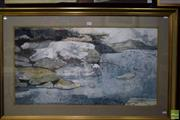 Sale 8578T - Lot 2005 - Anthony Jas (1946 - )Tumut River, 1984 watercolour, 70 x 110cm (frame), signed and dated lower right