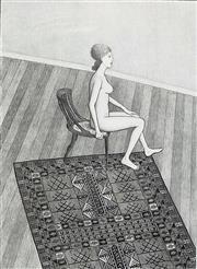 Sale 8607A - Lot 5004 - John Brack (1920 - 1999) - Nude in Profile 68 x 51cm (image size)