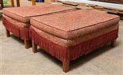 Sale 8677A - Lot 91 - A pair of ottomans, H 42 x W 92 x D 61cm