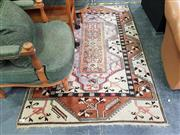 Sale 8672 - Lot 1029 - Rug in Tan & Red Tones 118 x 190cm