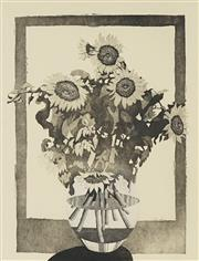 Sale 8730 - Lot 2002 - David Preston (1948 - ) - Sunflowers, 1987 60.5 x 45cm