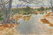 Sale 8755 - Lot 514 - Max Ragless (1901 - 1981) - Willochia Creek near Hawker 50.5 x 75cm