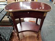 Sale 8769 - Lot 1045 - Pair of Kidney Shaped Bedsides with Single Drawer & Gilt Highlights