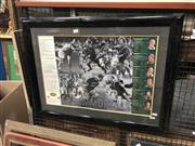 Sale 8784 - Lot 2098 - Australian Rugby League Immortals Framed Poster