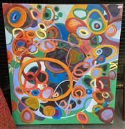 Sale 9011 - Lot 2015 - J. Gunn Untitled (Circular Motions) 2012oil on canvas 81 x 70cm, signed -