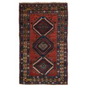 Sale 9061C - Lot 31 - Antique Caucasian Kazak Rug, C1940, 120x220cm, Handspun Wool