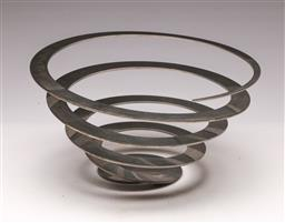 Sale 9114 - Lot 60 - A chrome spring form fruit bowl (Dia 29cm)