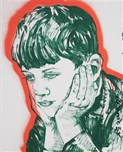 Sale 8484 - Lot 576 - David Bromley (1960 - ) - Boy Portrait 82 x 66cm