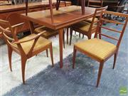 Sale 8451 - Lot 1060 - McIntosh teak dining table and set of 6 chairs (1 carver AF)