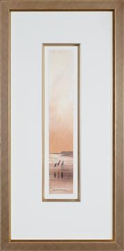 Sale 8434 - Lot 509 - Colin Parker (1941 - ) - Fishing on the Beach 8 x 49.5cm (frame size: 87 x 43.3cm)