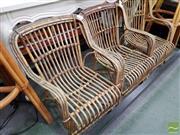 Sale 8469 - Lot 1065 - Set of Three Cane Kids Chairs