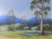 Sale 8563T - Lot 2057 - John Biaseto The Promised Land, Bellingen oil on canvas on board, 37 x 50cm, signed lower right