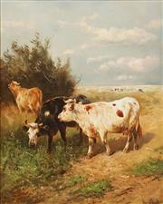 Sale 8642 - Lot 564 - Gerrit Jan Schouten (1815 - 1878) - Dutch Pastrol Scene 96 x 76cm