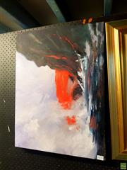 Sale 8655 - Lot 2074 - Marcia Rea - Fire in the Water oil on canvas, 46 x 61cm, labelled verso