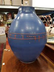 Sale 8834 - Lot 1044 - Blue Terracotta Vase