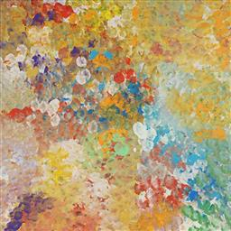 Sale 9212A - Lot 5036 - JANET GOLDER KNGWARREYE (1973 - ) - Yam Flower 60 x 60cm (stretched and ready to hang)