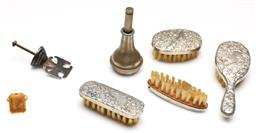 Sale 9246 - Lot 24 - A melange of silver items incl. Chinese miniature brush set and others