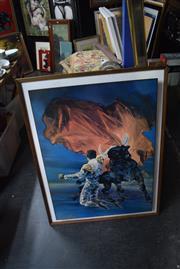 Sale 8326 - Lot 1007 - Framed Vintage Matador Print