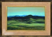 Sale 8374 - Lot 513 - Paul Jones (1921 - 1998) - Untitled (Landscape with natives) 27.5 x 44cm