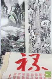 Sale 8490 - Lot 252 - Oriental Scrolls (3)