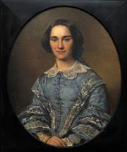 Sale 8683 - Lot 548 - Nicholas Pieneman (1880 - 1938) - Portrait of Mrs Van Gerken, 1856 71 x 57cm
