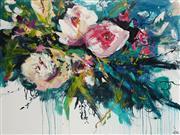 Sale 8773A - Lot 5053 - Cheryl Cusick - Floral Melody 90 x 120cm