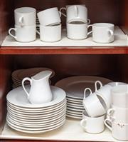 Sale 8926K - Lot 70 - A plain white Mayfair and Jackson dinner and tea service