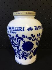 Sale 9026 - Lot 1075 - Blue and White Ceramic Lidded Vase (H:17cm)