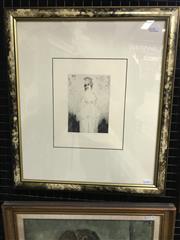 Sale 9024 - Lot 2016 - Norman Lindsay, Julia, facsimile etching, Odana ed.127, 52 x 45cm (frame)