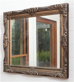 Sale 9134H - Lot 68 - A framed rectangular mirror 73cm x 85cm