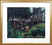 Sale 8415 - Lot 514 - Geoffrey Proud (1946 - ) - Last Light on Snowdrops 60.5 x 74.5cm