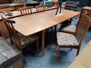 Sale 8476 - Lot 1033 - Very Good Younger Teak Table and Set of Six Chairs