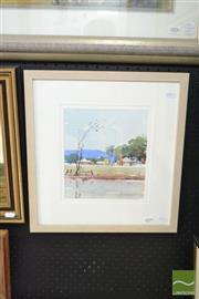 Sale 8503 - Lot 2008 - Helen Goldsmith Rural Scene, watercolour, 25 x 20cm, signed lower right