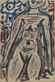 Sale 8708A - Lot 527 - Tony Tuckson (1921 - 1973) - Untitled (Nude), c1950 - 1953 27 x 19cm