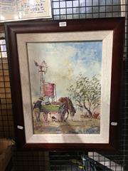 Sale 8720 - Lot 2088 - Peter Hughes - The Old Cart oil on board 38.5 x 29cm, signed lower right